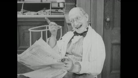 1917 an approving man reads a newspaper - pointing stock videos & royalty-free footage
