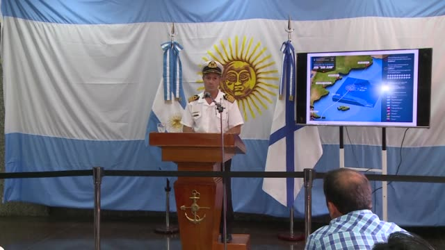 an argentine navy vessel with a russian remote submersible vehicle on board is in the search zone to inspect one of four missing signals detected in... - sottomarino mezzo di trasporto marittimo video stock e b–roll