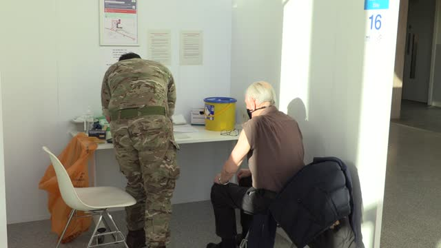 an army medic who contracted coronavirus last year is helping the vaccination effort in scotland, after the illness meant she could not be deployed... - kabul stock videos & royalty-free footage