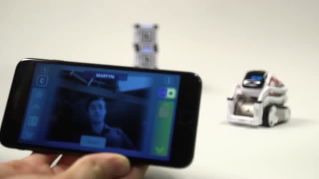 An artificial intelligencepowered toy robot that can recognise faces could help humanrobot relationships its developer has claimed Cozmo a small...