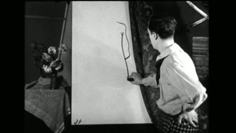 vídeos y material grabado en eventos de stock de an artist's creates a cartoon costume and jumps into the newspaper - detective