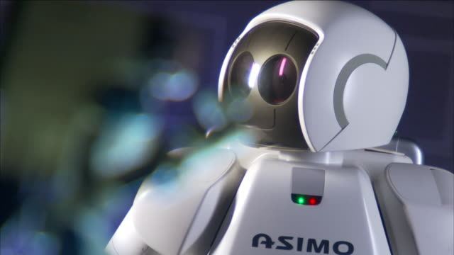 an asimo humanoid rotates its head. - symbol stock videos & royalty-free footage