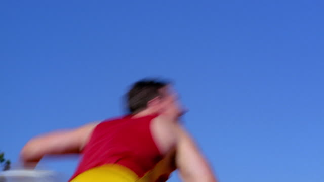 an athlete throws a javelin. - javelin stock videos & royalty-free footage