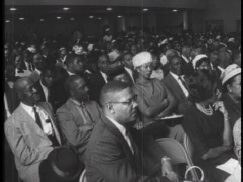 an audience awaits speakers at the 1962 mississippi state conference of the naacp. - naacp stock videos & royalty-free footage