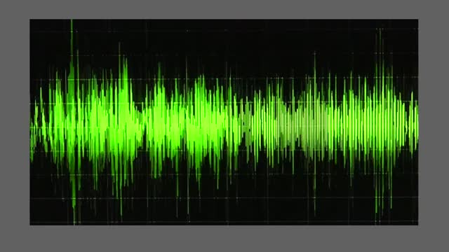 """an audio waveform indicates voice levels, as trump says he was """"a schmuck"""" to back gov. brian kemp's campaign. during a january 2 taped phone call,... - wave pattern stock videos & royalty-free footage"""