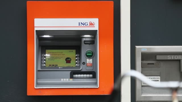 An automated teller machine sits outside an ING Groep NV bank branch in Amsterdam Netherlands on Monday Jan 29 Photographer Jasper Juinen/Bloomberg