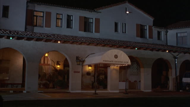 an awning hangs over the entrance of the westgate country club. - country club stock videos and b-roll footage