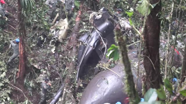 an ecuadorean army plane crashed in the amazon rainforest tuesday killing all 22 people on board - loja stock videos and b-roll footage