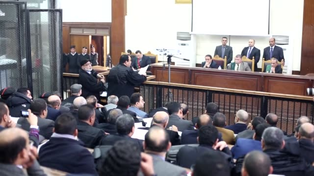 """an egyptian court on february 07, 2017 slapped two people with death sentences for involvement in """"acts of violence"""" that took place near the u.s.... - 2017 stock videos & royalty-free footage"""