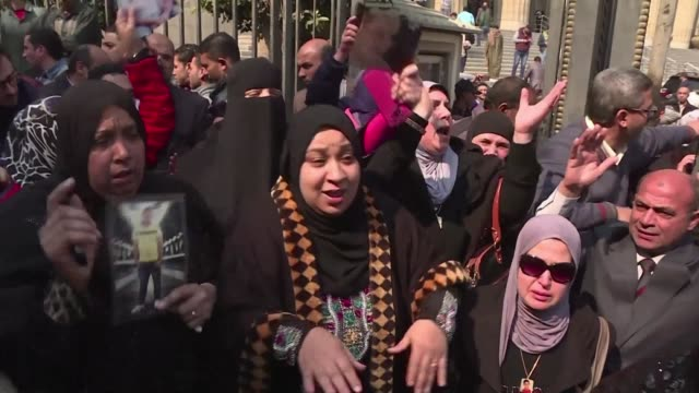 an egyptian court upheld monday death sentences against 10 people convicted over rioting that claimed 74 lives at a stadium in port said in 2012... - port said stock videos and b-roll footage