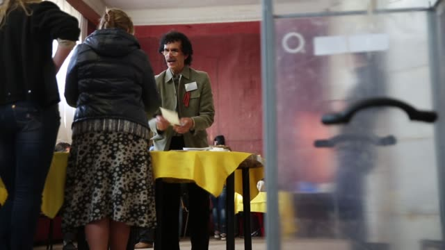 la ls an election official counts votes in a polling station in the lenin palace of culture in slovyansk in eastern ukraine following the closing of... - eastern european culture stock videos and b-roll footage