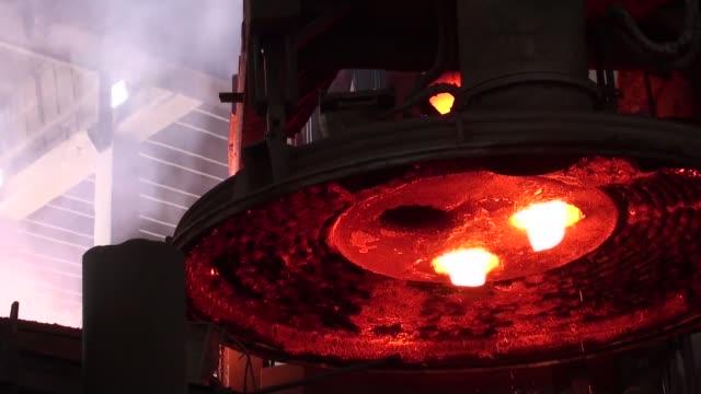 An electric arc furnace operates inside an Agha Steel Industries Ltd plant in Karachi Pakistan on Saturday June 3 2017