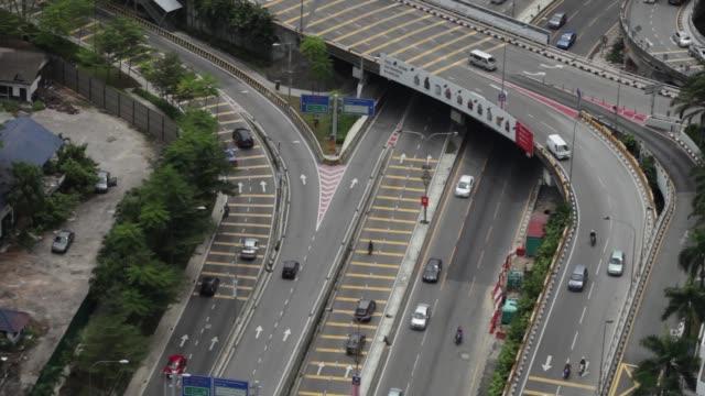 An elevated view of Kuala Lumpur Malaysia on Wednesday Aug 27 An elevated view of traffic on a highway in Kuala Lumpur An elevated view of Kuala...