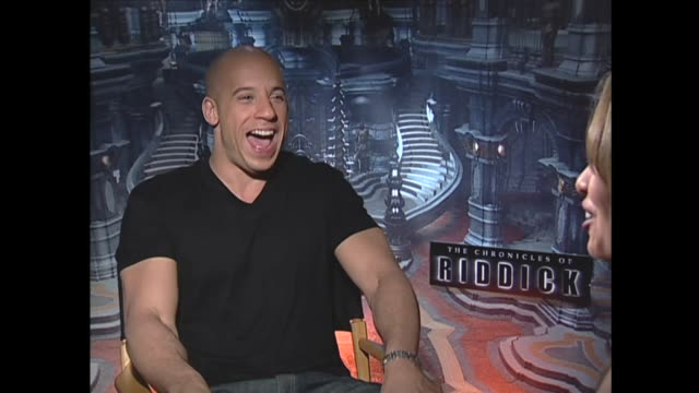 an emergency announcement disrupts an interview with vin diesel - vin diesel stock videos and b-roll footage
