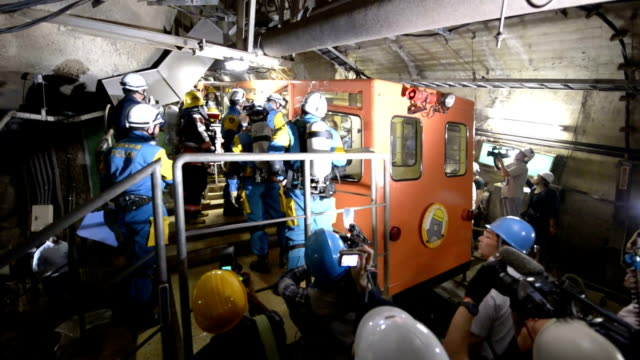 An emergency drill was conducted at Seikan Tunnel the world's longest undersea tunnel in Japan on Monday August 17 in a scenario in which a fire...
