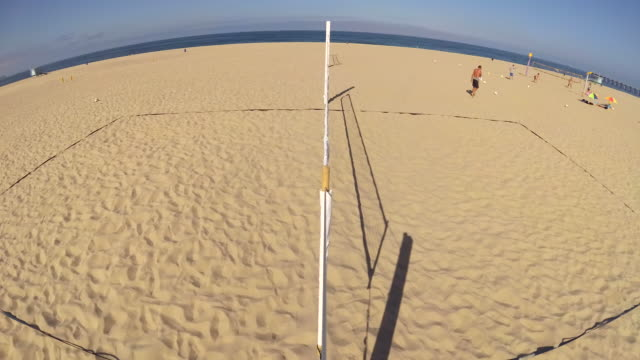 an empty beach volleyball court. - volleyball net stock videos & royalty-free footage