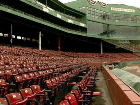 an empty fenway park lies anticipation - fen stock videos and b-roll footage