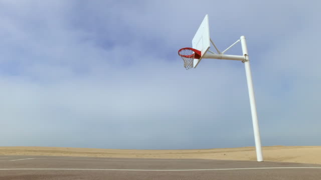 an empty outdoor blacktop court at the beach. - el segundo stock videos and b-roll footage