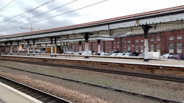 an empty york station platform after coronavirus outbreak - journey stock videos & royalty-free footage