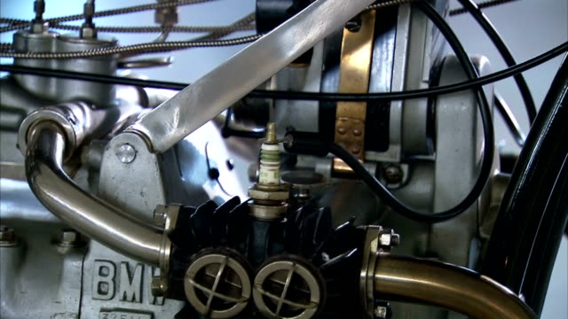 an engine gleams on an newly manufactured bmw. - bmw stock videos & royalty-free footage