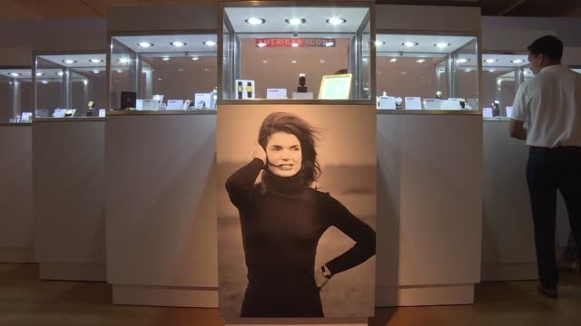 an engraved gold cartier watch given to jacqueline kennedy and a reciprocal thank you painting by the former first lady are to be auctioned at... - jacqueline kennedy stock videos and b-roll footage