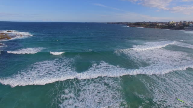 an entire view of bondi beach - wide stock videos & royalty-free footage
