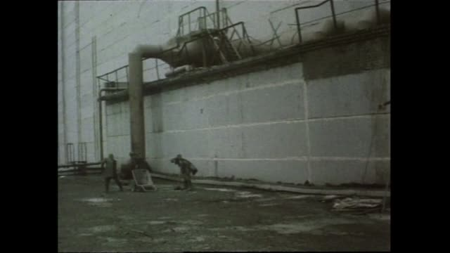 vídeos y material grabado en eventos de stock de an estimated 600000 rescue workers known as liquidators from across belarus russia and ukraine were sent to chernobyl in the years after the disaster... - lluvia radioactiva