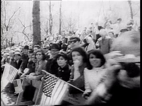 an estimated 70000 men women and children watch parade down new york's fifth avenue in a gigantic show of support for us soldiers in vietnam war /... - young war veteran stock videos & royalty-free footage