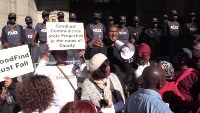 an estimated crowd of about 500 people marched from cape town's keizergracht street to the provincial department of human settlements on wednesday 4... - social movement stock videos and b-roll footage