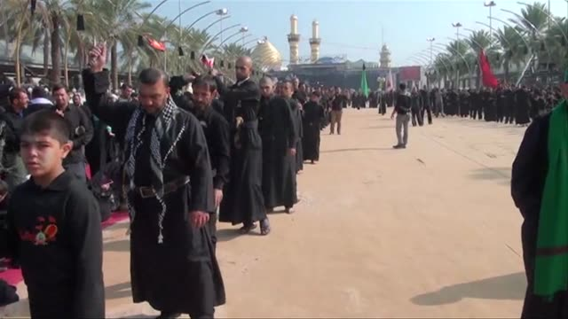 an estimated two million shiite faithful gathered in karbala site of the mausoleum of imam hussein grandson of the prophet mohammed whose death in... - shi'ite islam stock videos & royalty-free footage