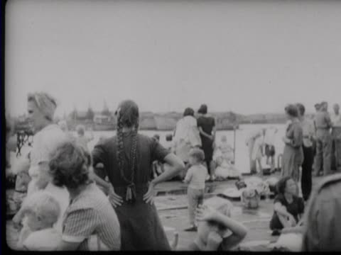 an evacuation with navy ships of liberated women and children from surabaya - east java province stock videos & royalty-free footage
