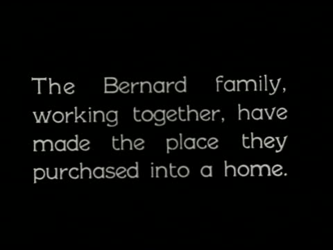 an evening at home: a film lesson in citizenship - 1 of 9 - anno 1921 video stock e b–roll
