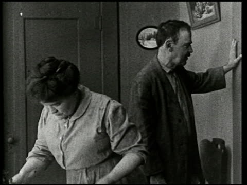 an evening at home: a film lesson in citizenship - 8 of 9 - anno 1921 video stock e b–roll