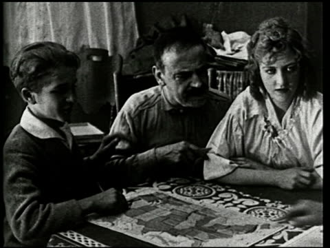 an evening at home: a film lesson in citizenship - 9 of 9 - anno 1921 video stock e b–roll