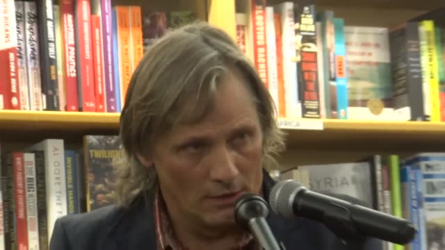 an evening with viggo mortensen amy goodman and anthony arnove for a discussion of the newly reprinted 12th anniversary edition of twilight of empire... - poetry stock videos & royalty-free footage