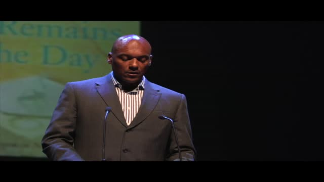 an excerpt of colin salmon reading from kazuo ishiguro's remains of the day live at world book night 2012 colin salmon is a british actor known for... - james bond film series stock videos and b-roll footage