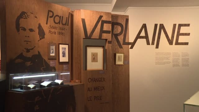 an exhibit in belgium features the story of famous french poet paul verlaine. the exhibit is located in the city of mons, where the drunk writer was... - poet stock videos & royalty-free footage