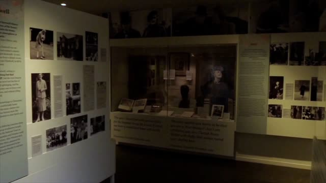 an exhibition on the life of sir winston churchill's wife has been extended after it experienced a surge of visitors inspired by the movie, darkest... - national trust video stock e b–roll