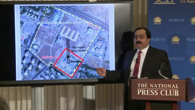 an exiled iranian opposition group tuesday accused tehran of running a secret uranium enrichment site which it said violated ongoing talks with... - esilio video stock e b–roll