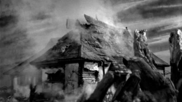 an explosion destroys the roof of a farmhouse during an air raid. - 1933 stock videos & royalty-free footage