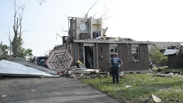 an f3 tornado touched down and obliterated the west brook neighborhood of trotwood, ohio on tuesday april 28. - dayton ohio stock videos & royalty-free footage