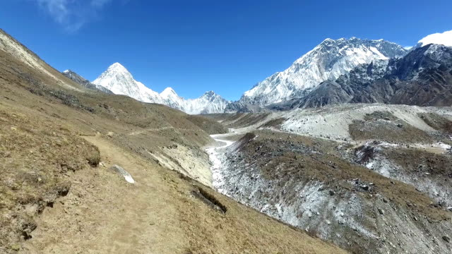 pov of an hiker in the himalayas in nepal - khumbu stock videos and b-roll footage
