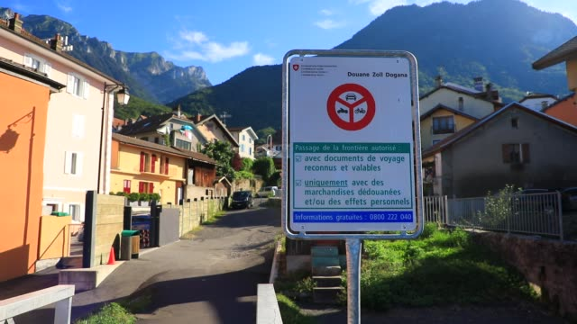 an illustration image shows an information sign indicating the conditions for entering switzerland on august 8, 2020 in saint gingolph, switzerland.... - information sign stock videos & royalty-free footage