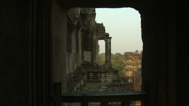 an incredible view from inside the temple - antique stock videos & royalty-free footage