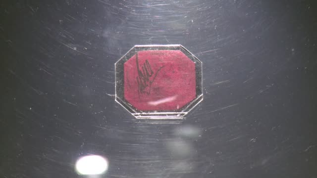 an incredibly rare 19th century postage stamp a tiny one cent magenta from british colonial guyana sells for a world record $95 million at a new york... - postage stamp stock videos and b-roll footage
