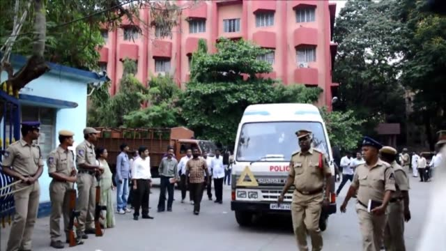 an indian court on thursday sentenced the former chief of outsourcing giant satyam to seven years in jail over a $225 billion accounting fraud... - outsourcing video stock e b–roll