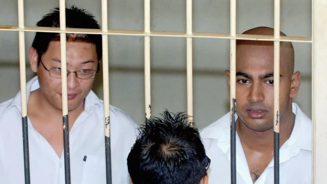 an indonesian court dismisses the latest appeal by two australian drug smugglers facing imminent execution taking them a step closer to the firing... - firing squad stock videos & royalty-free footage