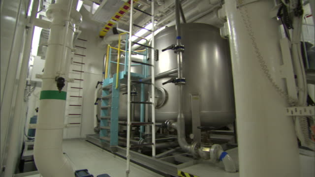an industrial boiler operates on a ship. - boiler stock videos & royalty-free footage