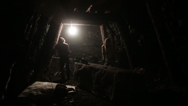 an informal coal miner uses a jackhammer on a coal deposit underground at a coal mine shaft in nailakh ulaanbaatar mongolia on thursday march 16... - mine shaft stock videos and b-roll footage