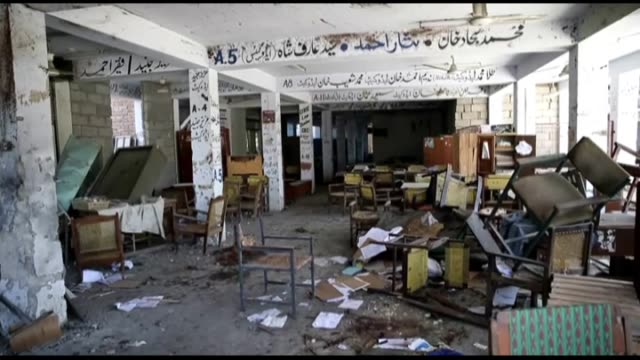 an inside footage of a courthouse after a suicide bomber attacked a court in the northern pakistani city of mardan, killing at least 11 people and... - 2016 stock videos & royalty-free footage